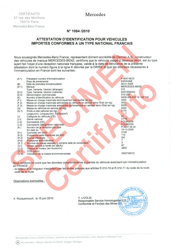 site officiel certifauto france certificat de conformit europ en auto moto information f. Black Bedroom Furniture Sets. Home Design Ideas